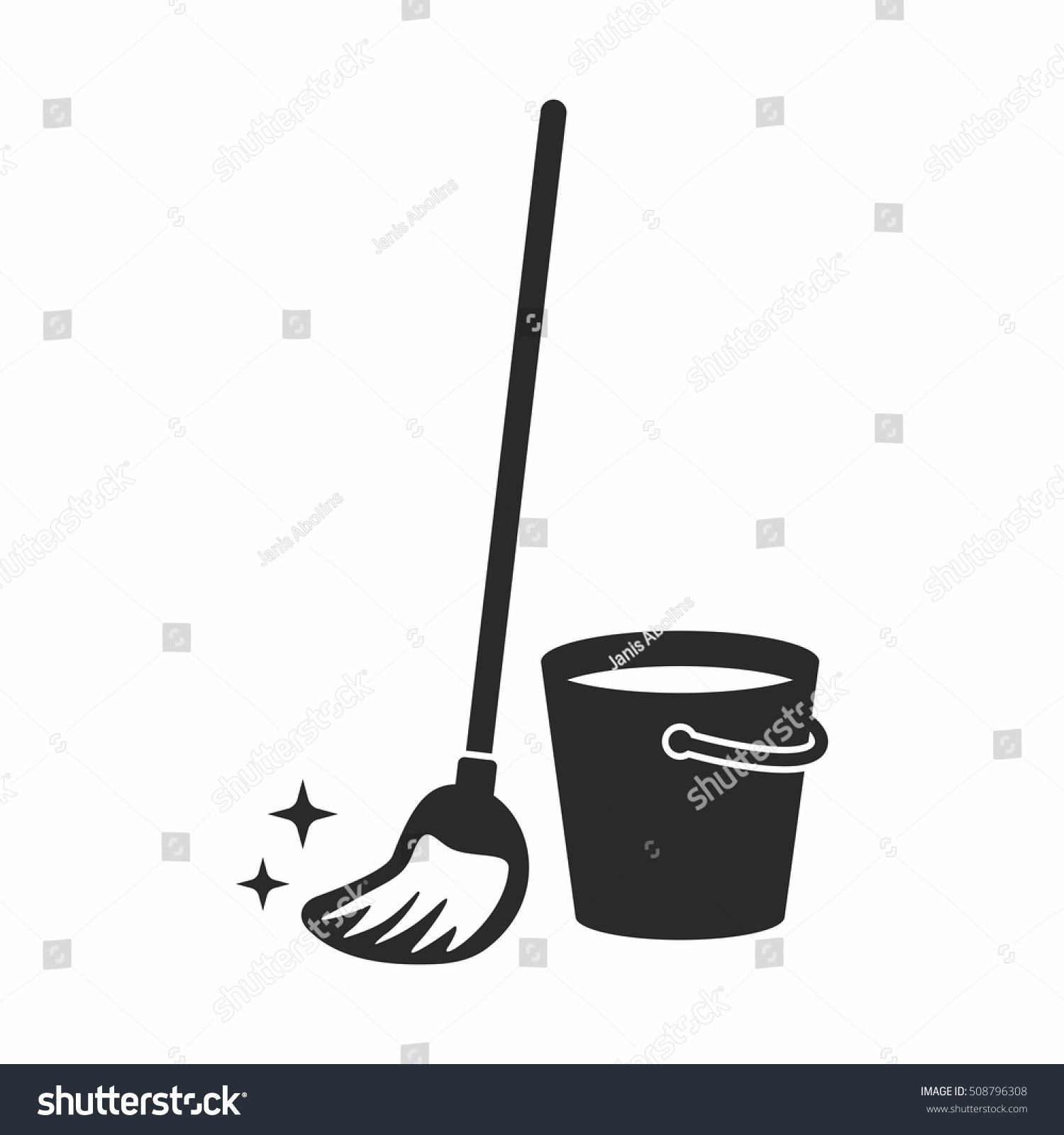 Cleaning Mop Icon Stock Vector 508796308 Shutterstock