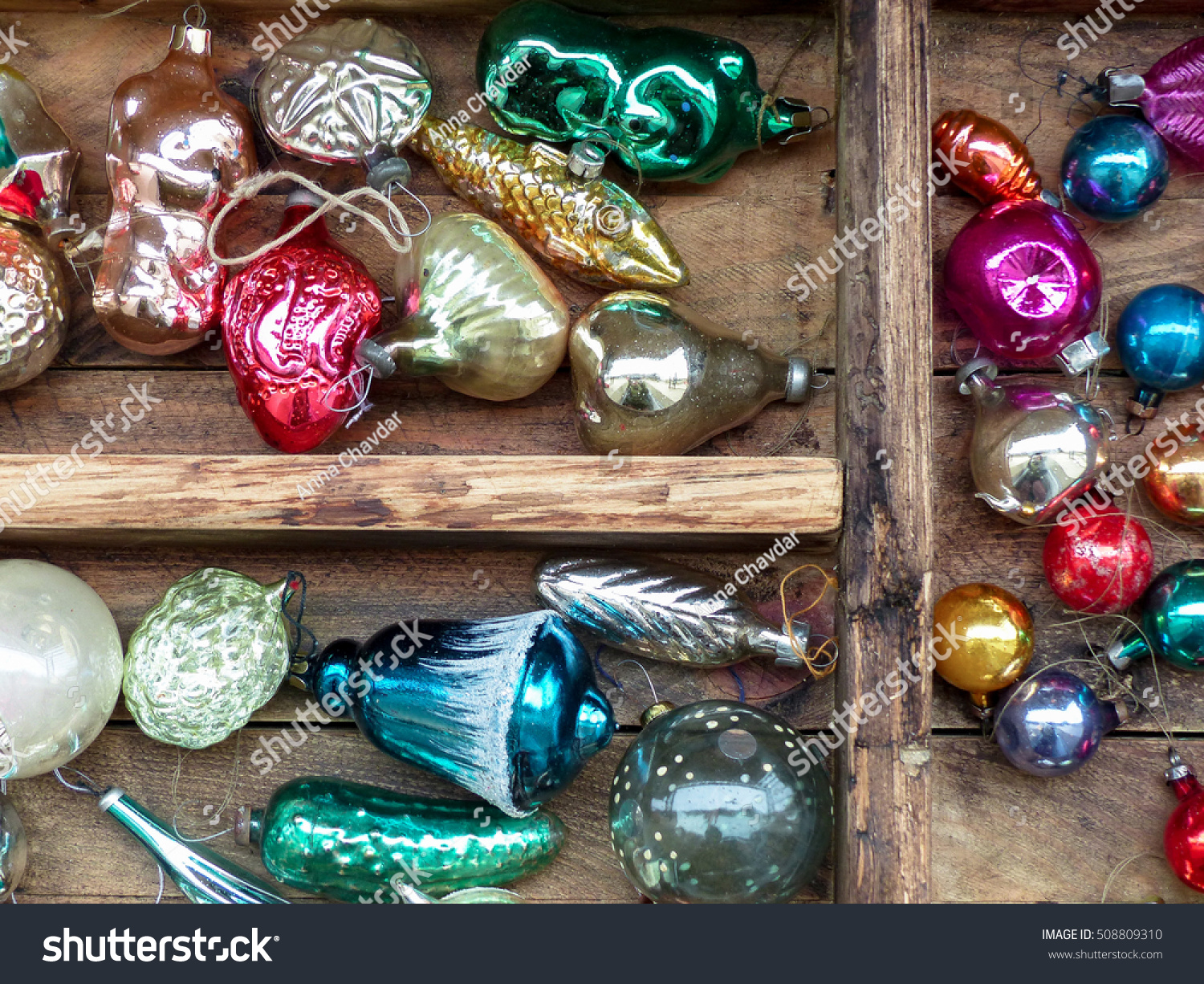 New Year Christmas Vintage Toys Old Stock Photo (Edit Now) 508809310 ...