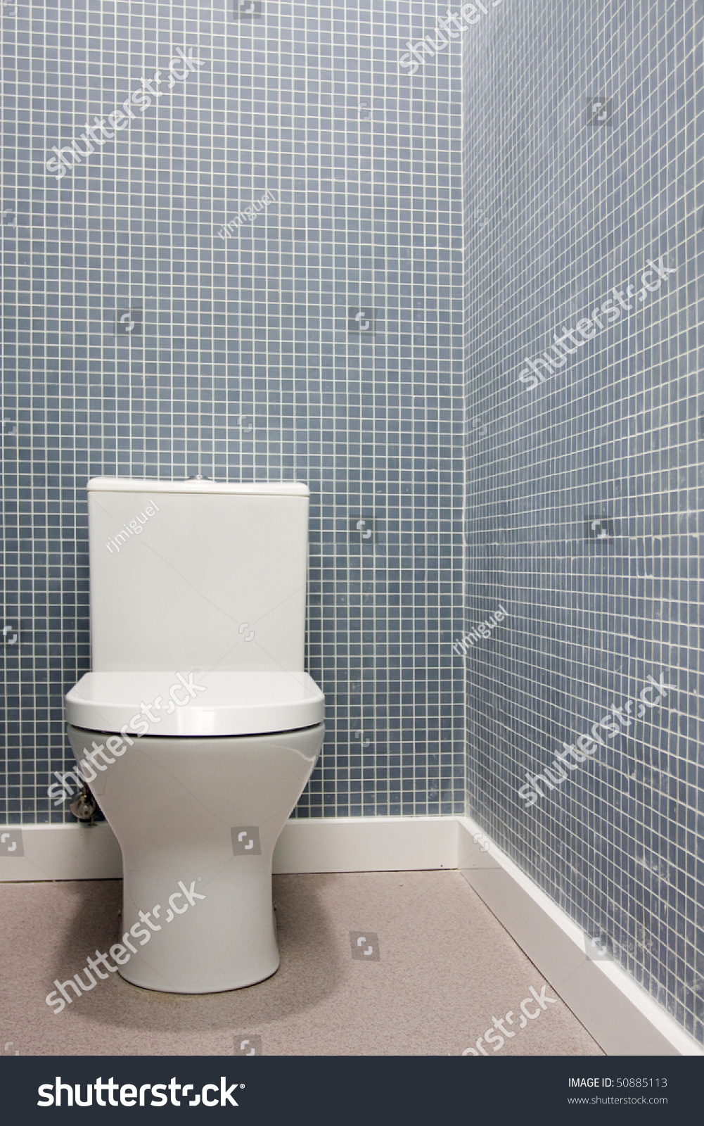 Simple Clean White Toilet Bathroom Stock Photo (Edit Now) 50885113 ...