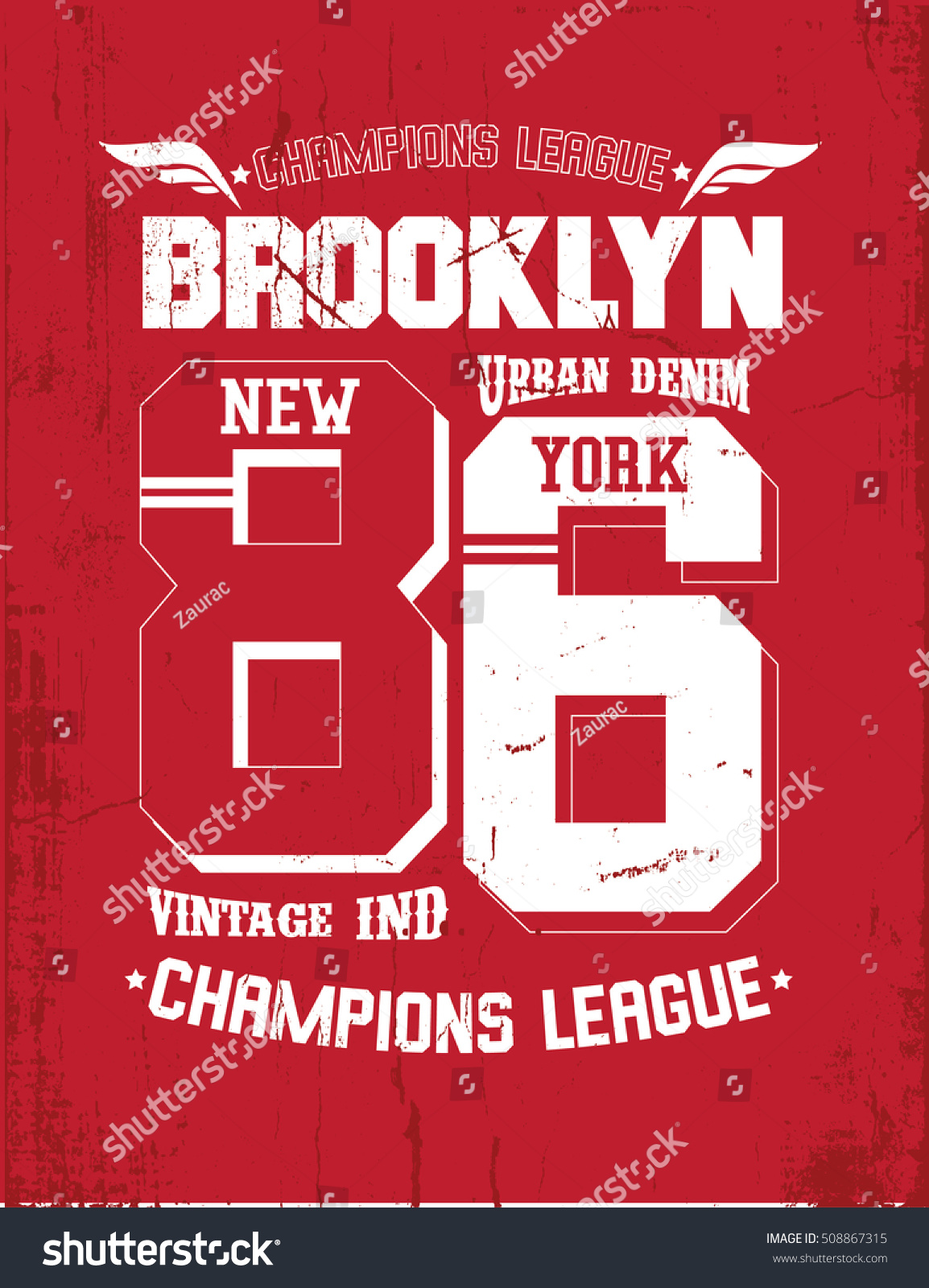 T shirt poster design - T Shirt Print Design Brooklyn Vintage Stamp Poster Printing And Badge