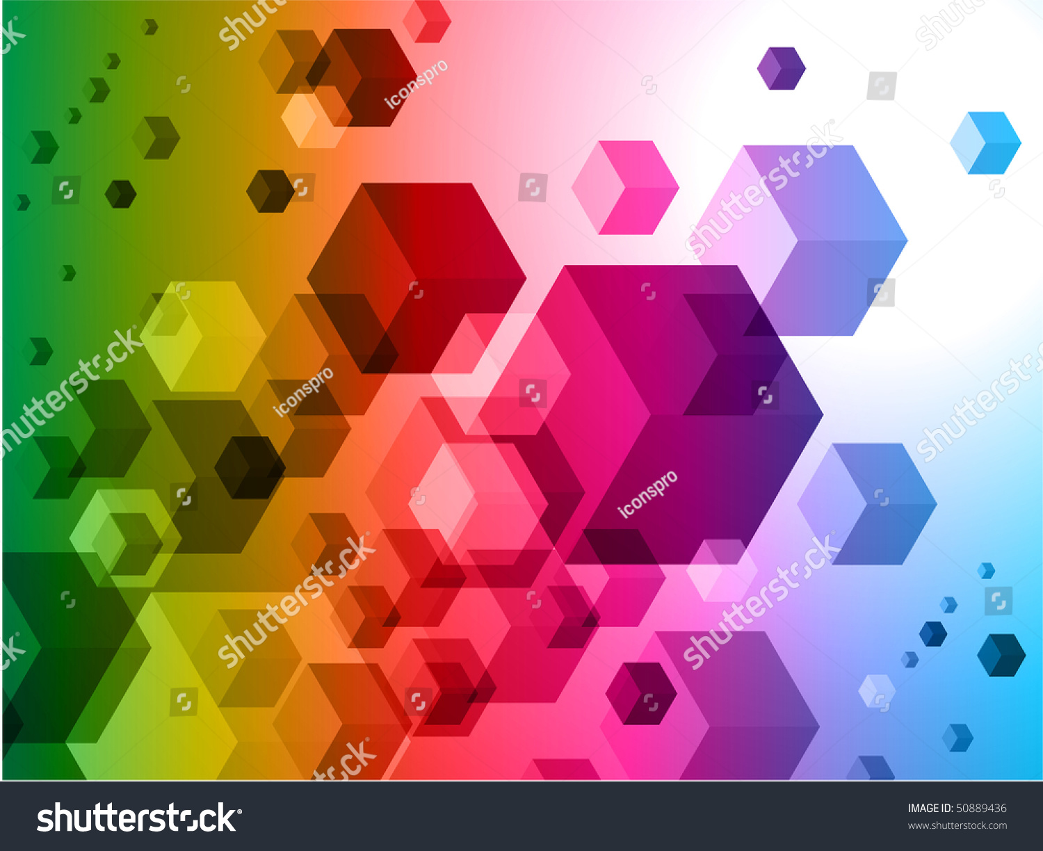 Pics photos 3d colorful abstract background design - 3d Cubes On Colorful Abstract Background Original Illustration