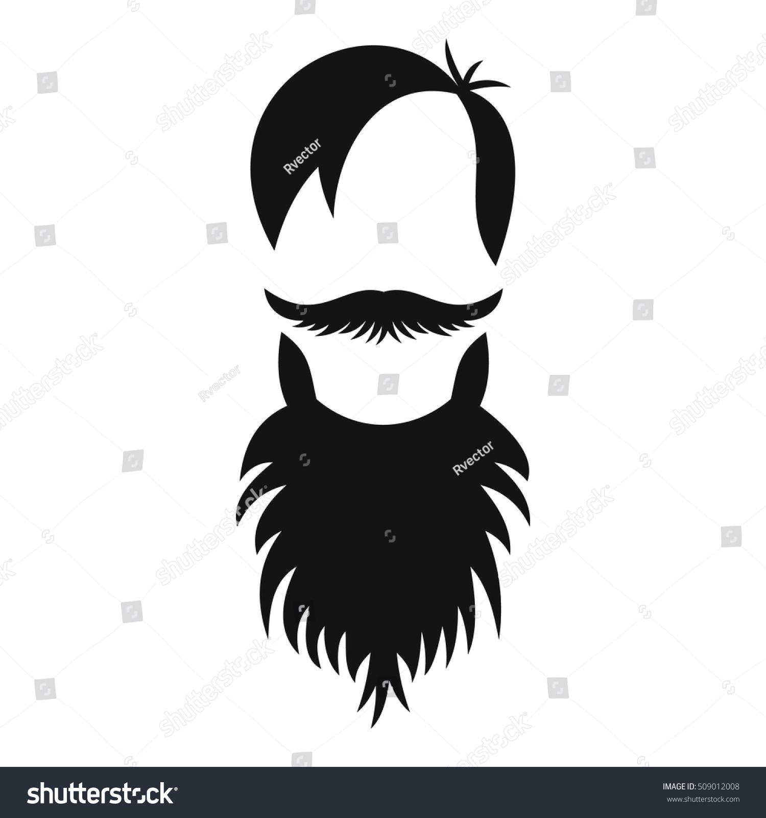 male avatar beard icon simple illustration stock vector