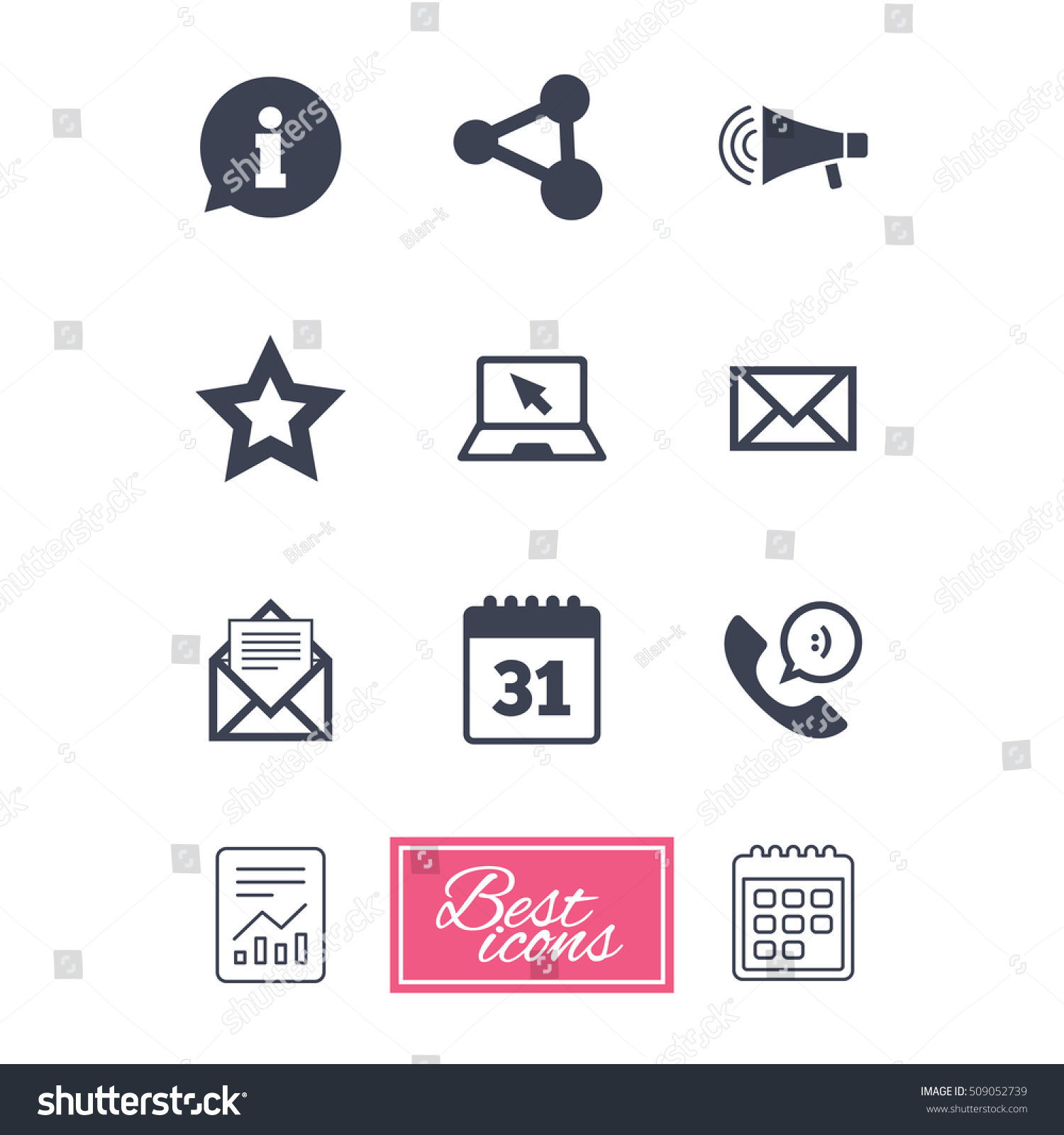 Communication icons contact mail signs email stock vector communication icons contact mail signs e mail information speech bubble and biocorpaavc Gallery