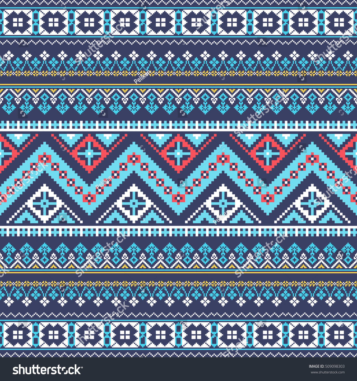 Aztec pixel seamless pattern. Ideal for printing onto fabric, paper ...