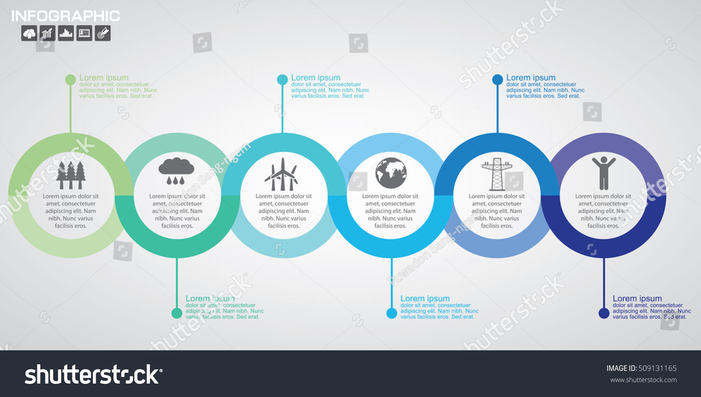 timeline infographics design template 8 options のベクター画像素材