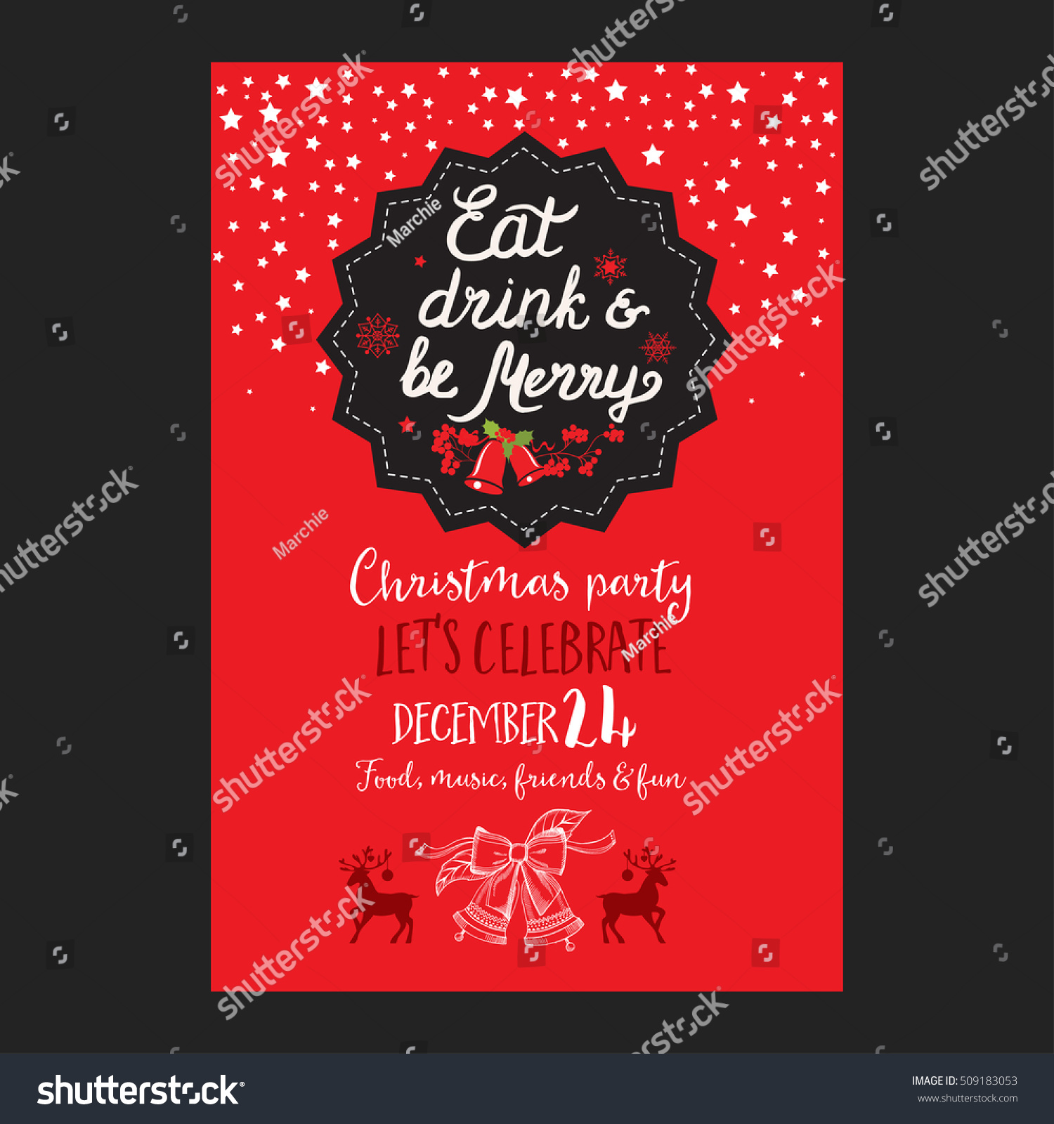 Christmas Restaurant Poster.Christmas Restaurant Brochure Menu Template Vector Stock