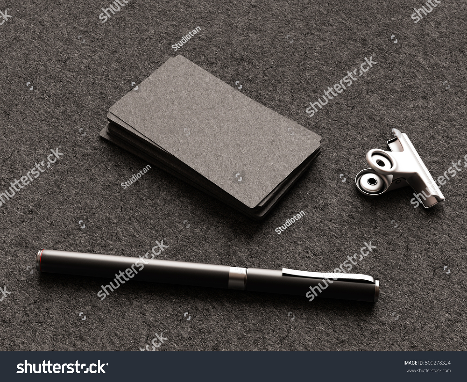 Black Business Cards On Fabric Substrate Stock Illustration