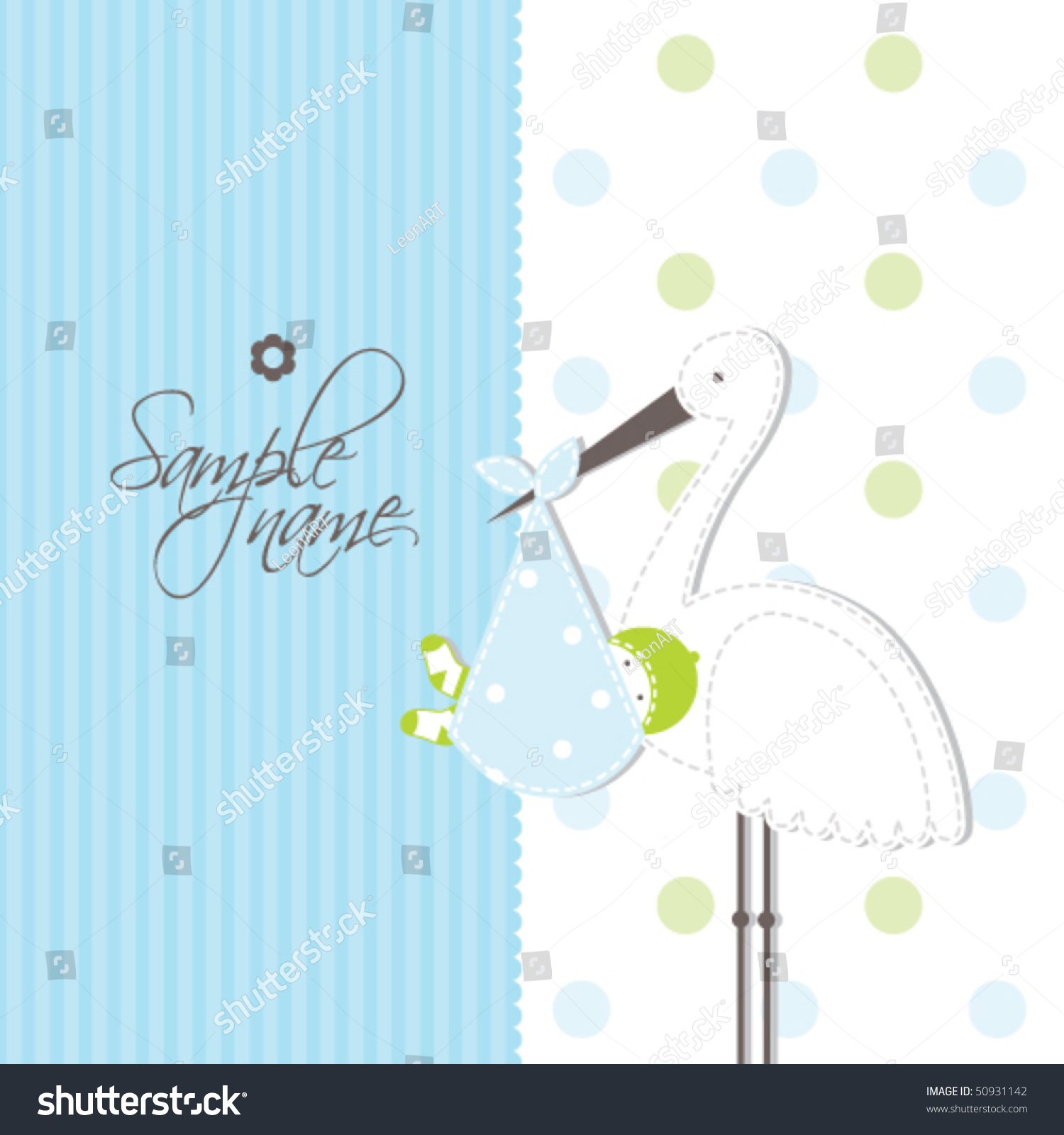 Baby Shower Arts And Crafts Part - 44: Baby Card - Boy Arrival Announcement Card Cute Illustration For Baby Shower,  Greeting Card,