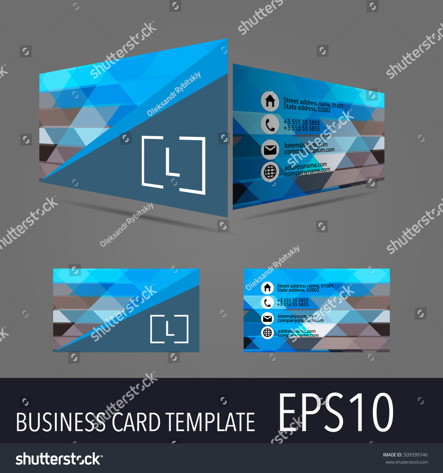 3d vector business card template modern stock vector hd royalty 3d vector business card template modern simple luxury standard business card design with cheaphphosting Images
