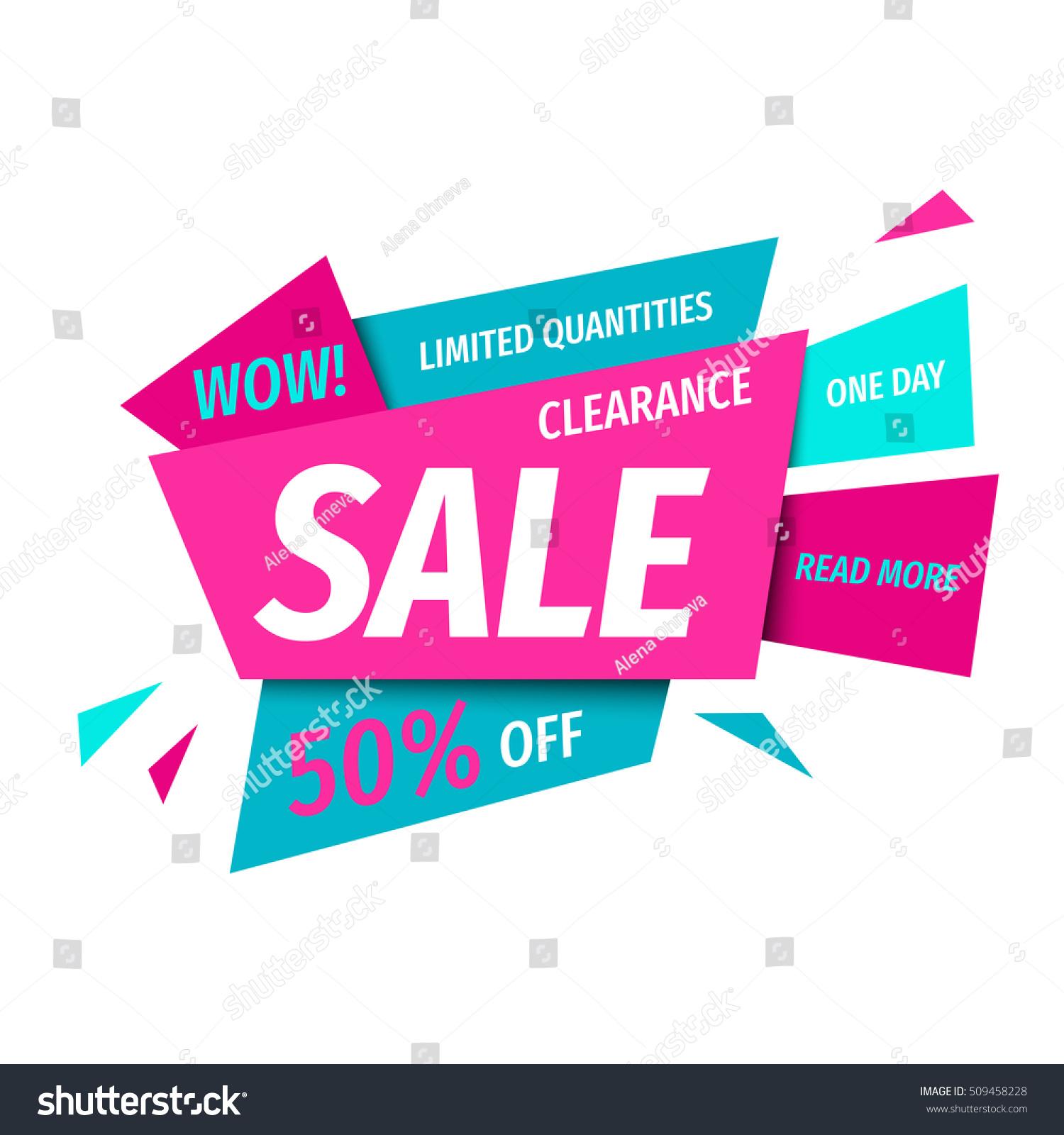 clearance sale banner template modern geometric stock vector