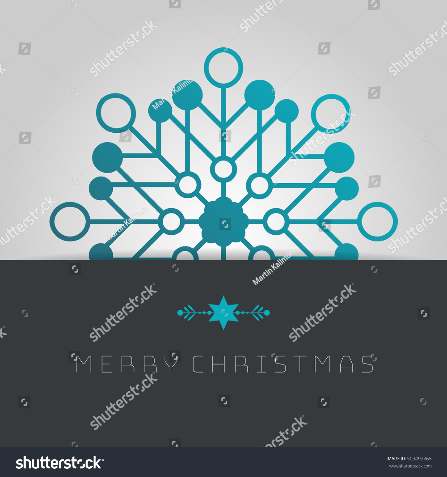 Business Greeting Christmas Card Template Snowflakes Stock Vector ...