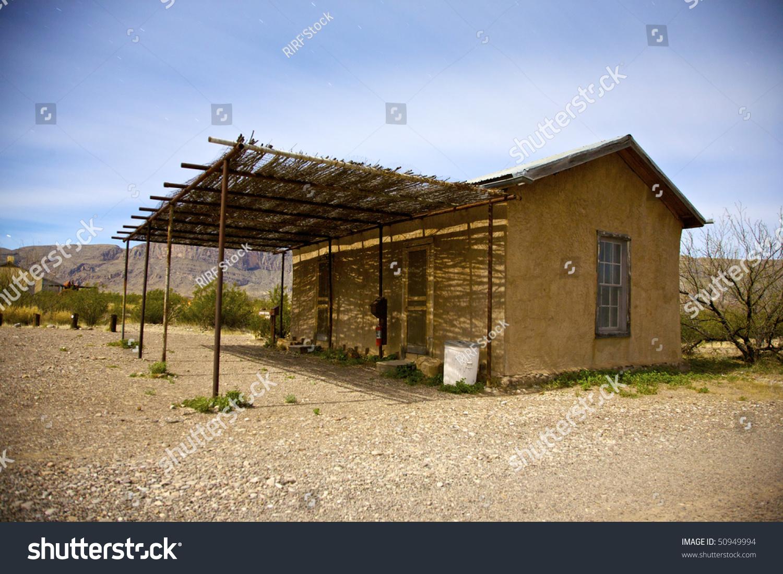 Adobe building in castolon big bend national park texas for Building an adobe house
