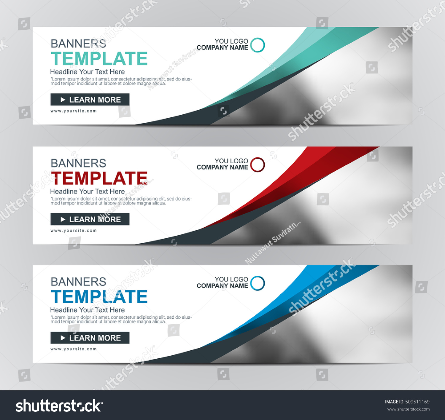 Vector Web Banner Header Templates Stock Vector Royalty Free