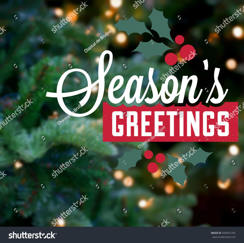 Christmas Card Season Greeting Background Tree Stock Illustration