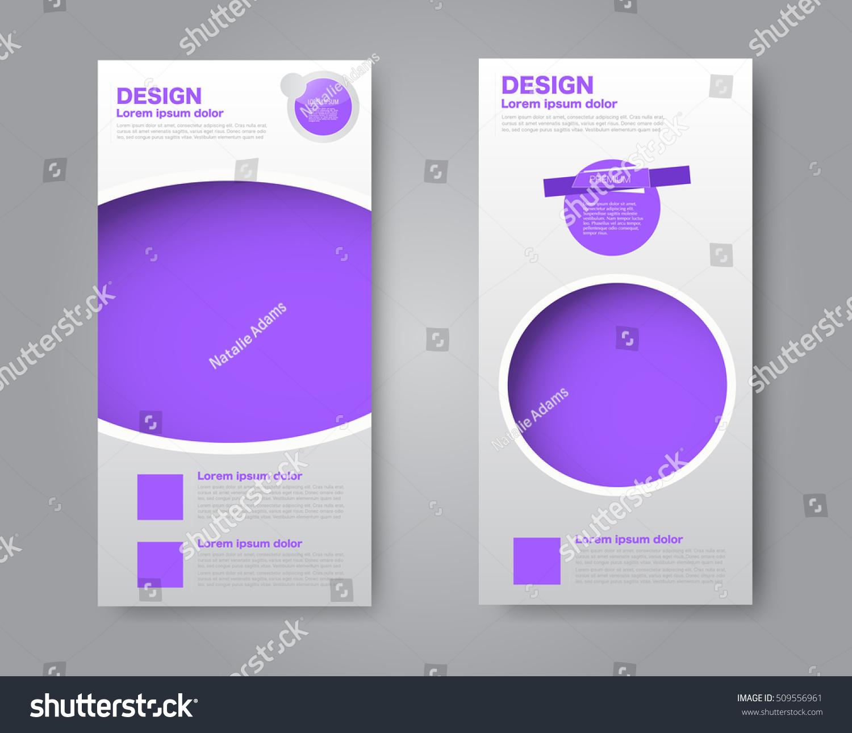 skinny flyer leaflet design set two stock vector 509556961