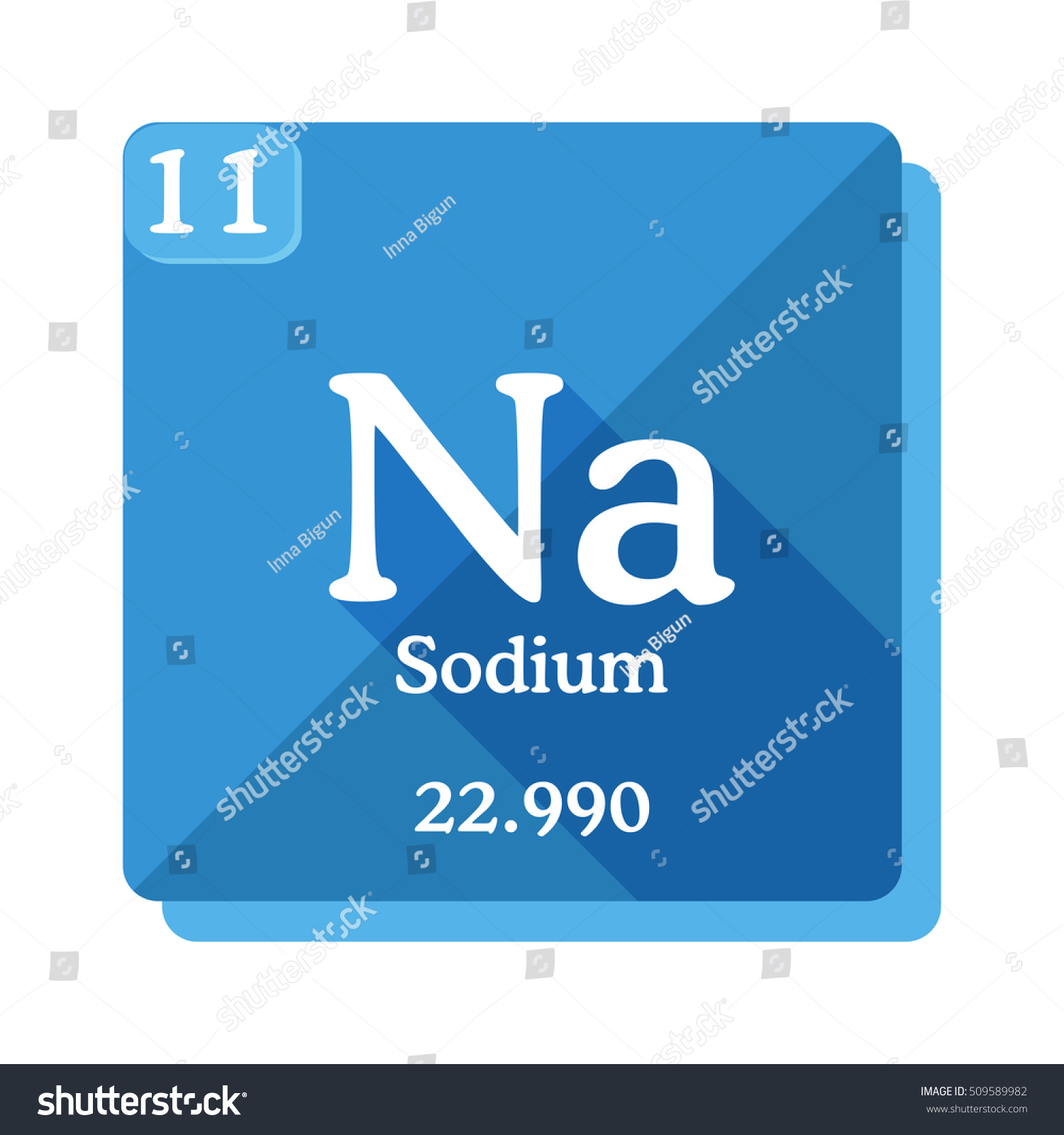 Sodium Na Element Periodic Table Sodium Stock Vector Royalty Free