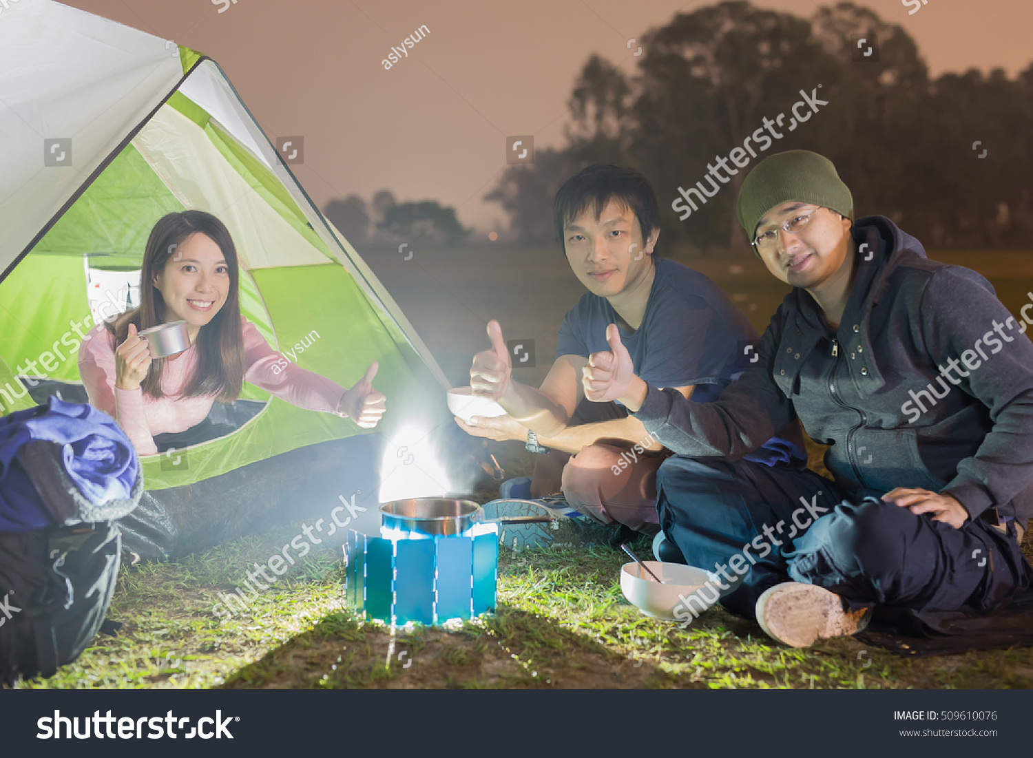 people are c&ing outdoor with tent asian  sc 1 st  Shutterstock & People Camping Outdoor Tent Asian Stock Photo (Edit Now) 509610076 ...