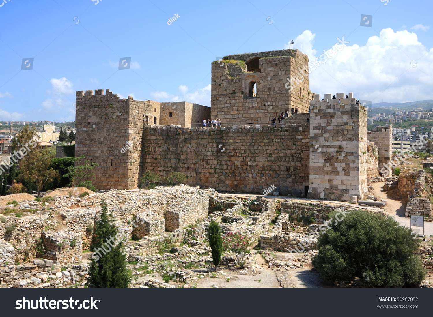 Crusader Castle Byblos Lebanon Stock Photo 50967052 ...