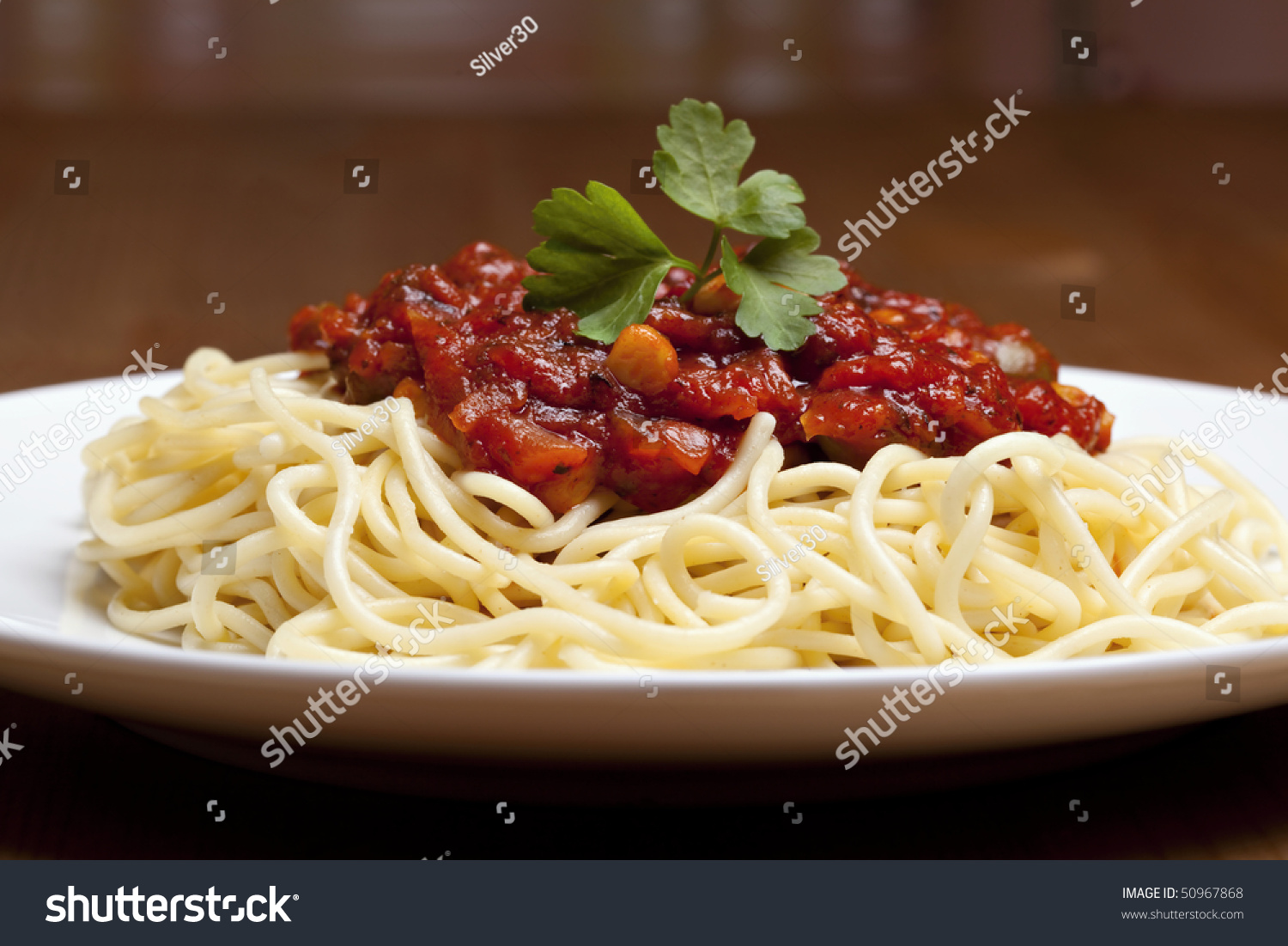 spaghetti bolognese traditional italian food stock photo 50967868 shutterstock. Black Bedroom Furniture Sets. Home Design Ideas