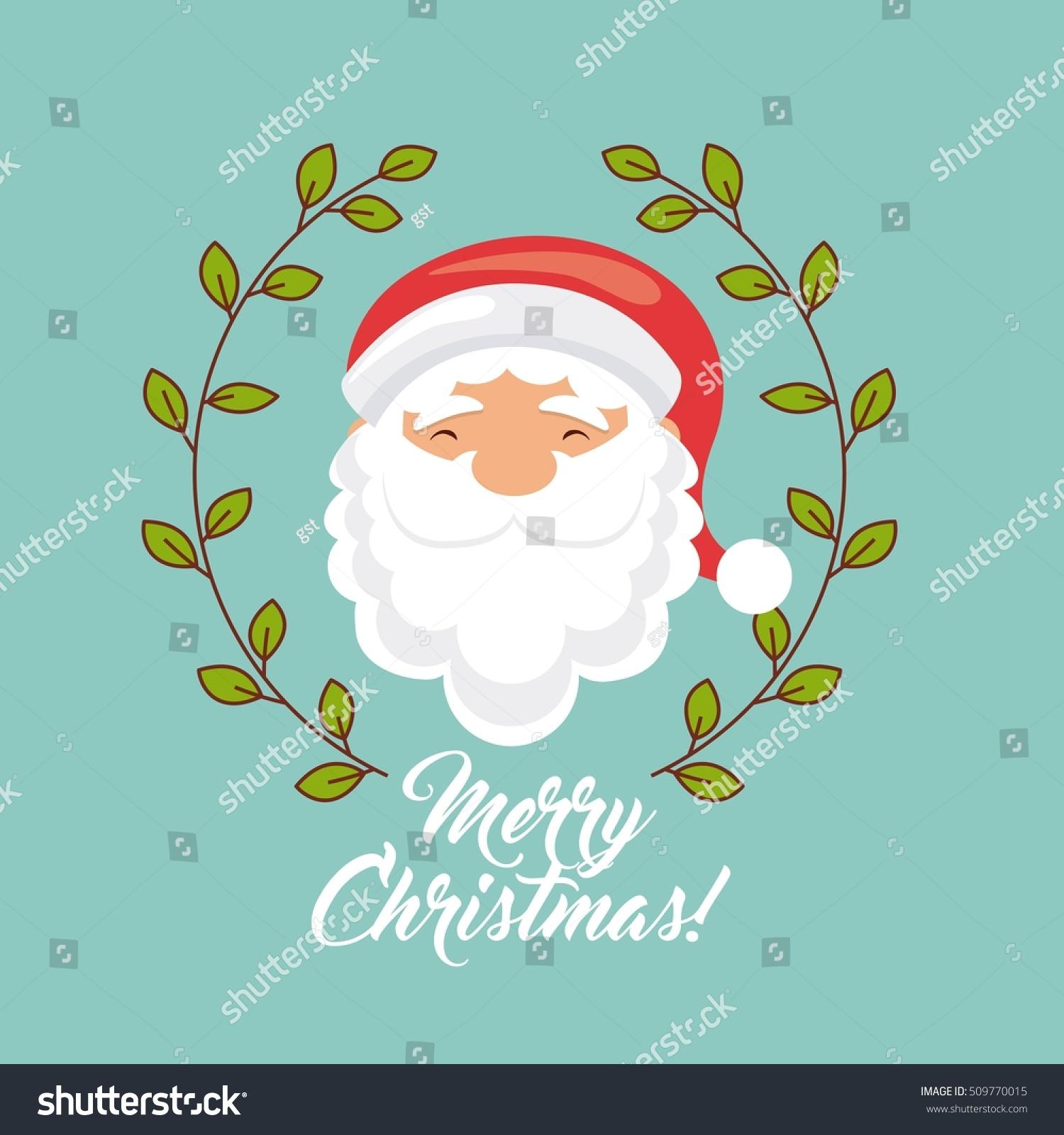 Happy Merry Christmas Card Vector Illustration Design