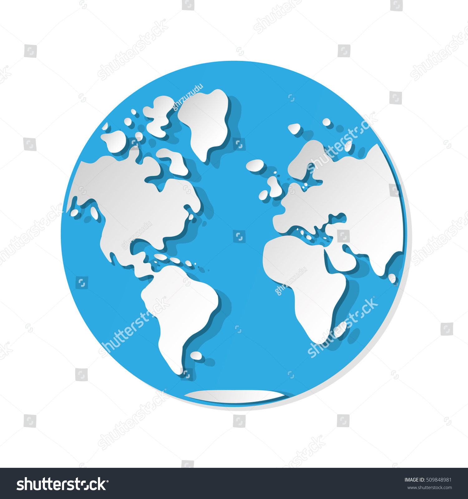 World map western hemisphere globe icon stock vector 509848981 world map western hemisphere globe icon stock vector 509848981 shutterstock gumiabroncs Images