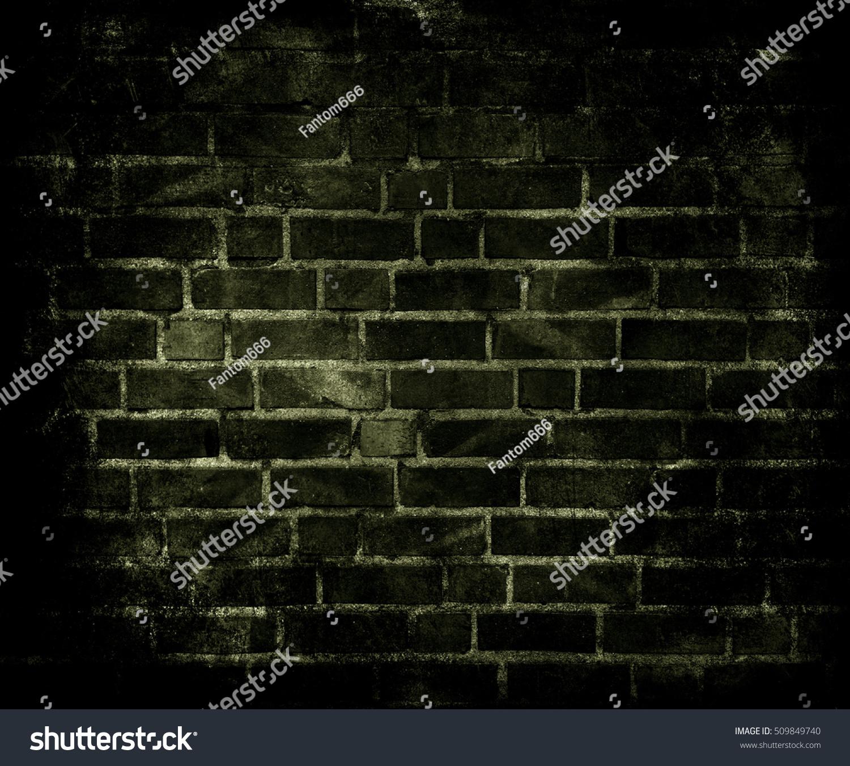 Old Brick Wall Background Dark Grunge Stock