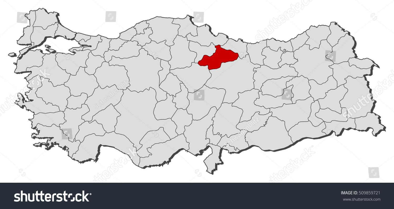 Map Turkey Tokat Stock Vector 509859721 Shutterstock