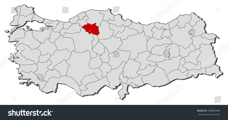 Map Turkey Cankiri Stock Vector 509862484 Shutterstock