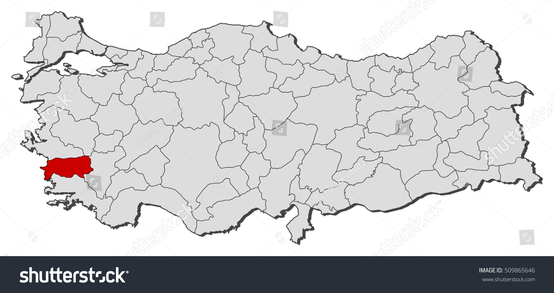 Map Turkey Aydin Stock Vector 509865646 Shutterstock