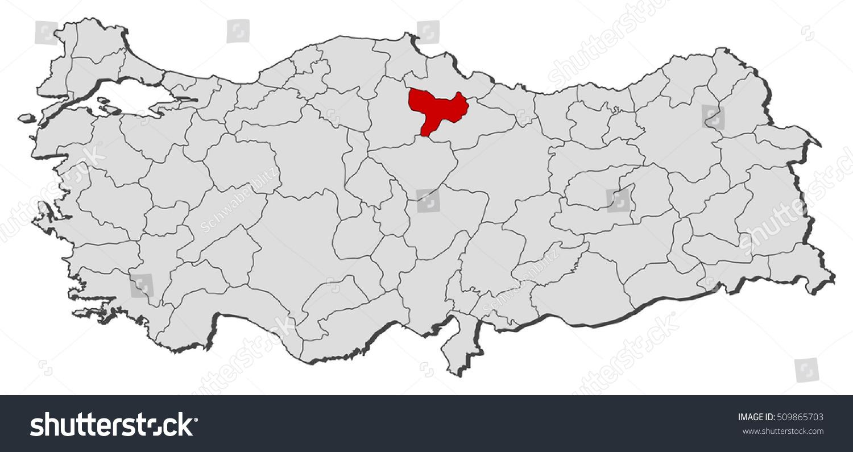 Map Turkey Amasya Stock Vector 509865703 Shutterstock