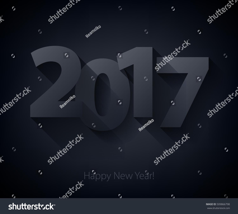 Calendar Typography Vector : Happy new year background calendar design typography
