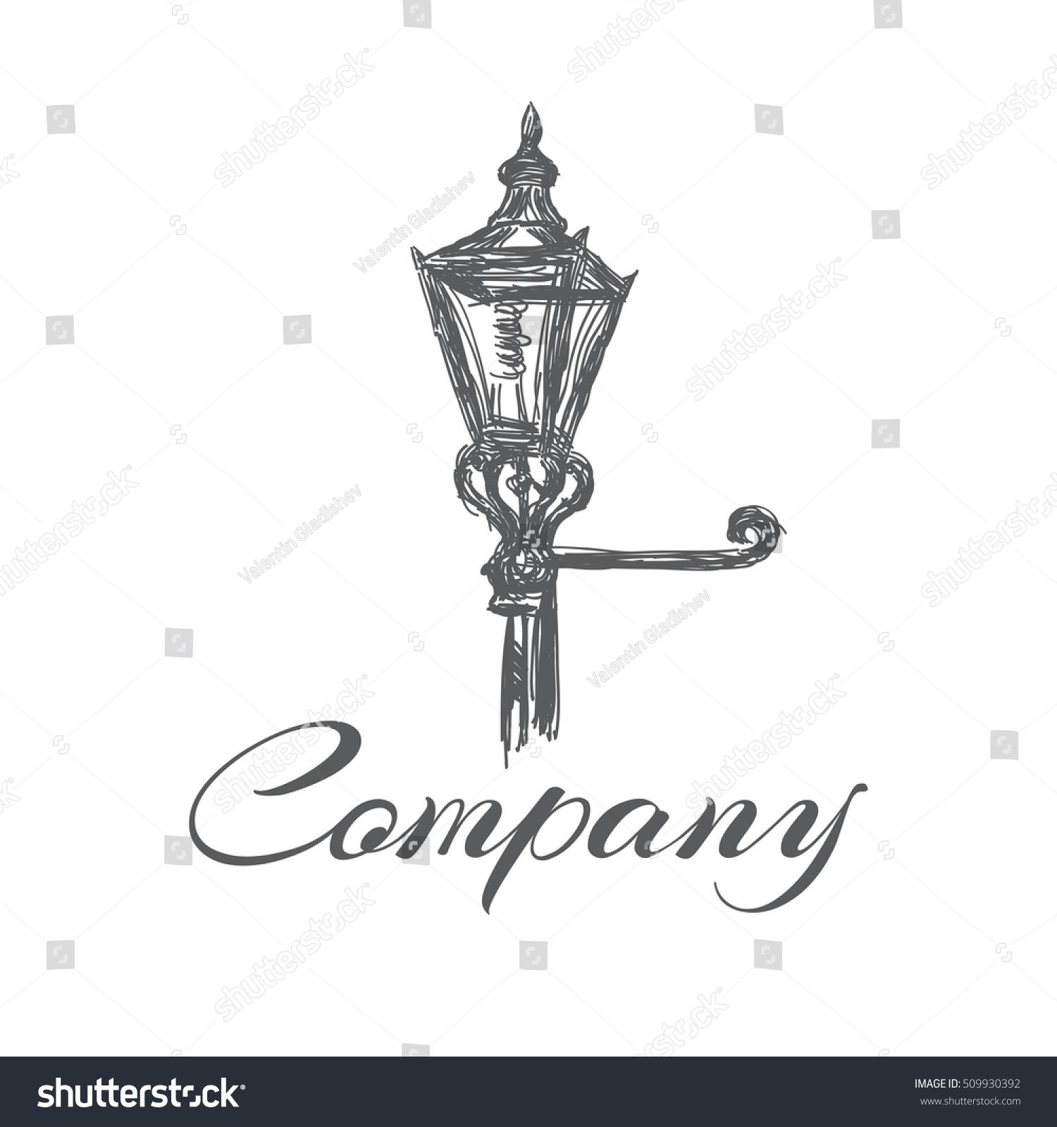 Old Street Lamp Logo Stock Vector 509930392 - Shutterstock for street lamp logo  45jwn