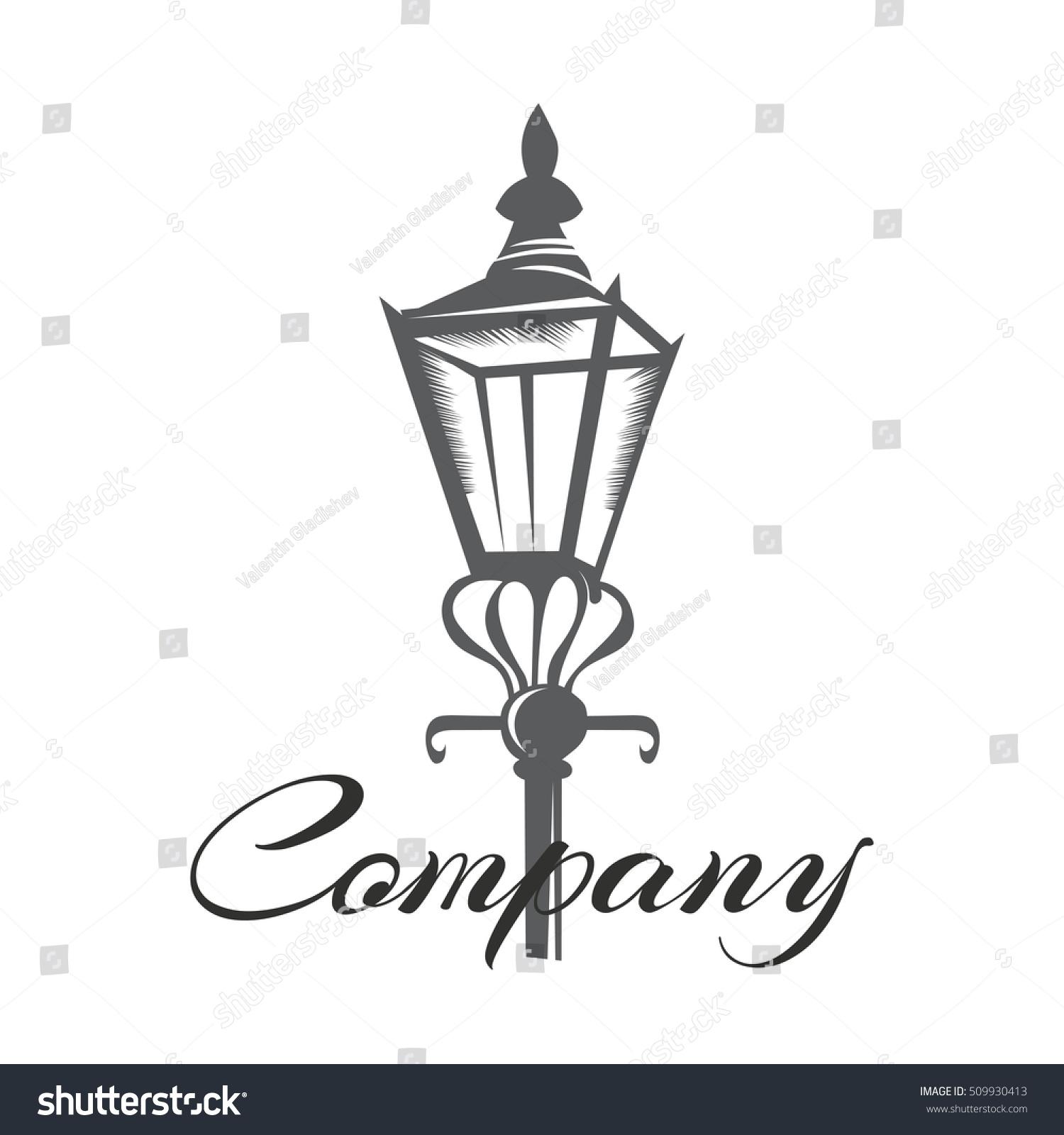 Old Street Lamp Logo Stock Vector 509930413 - Shutterstock for street lamp logo  568zmd