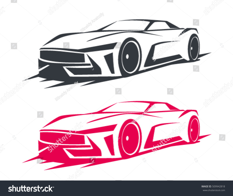 Tuning Car Logos Emblems Badges Labels Stock Vector 509942818 ...