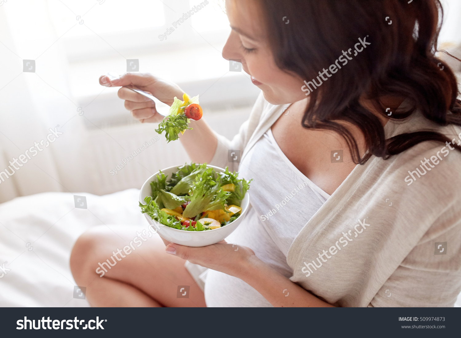 Pregnancy Healthy Food People Concept Close Stock Photo -6136