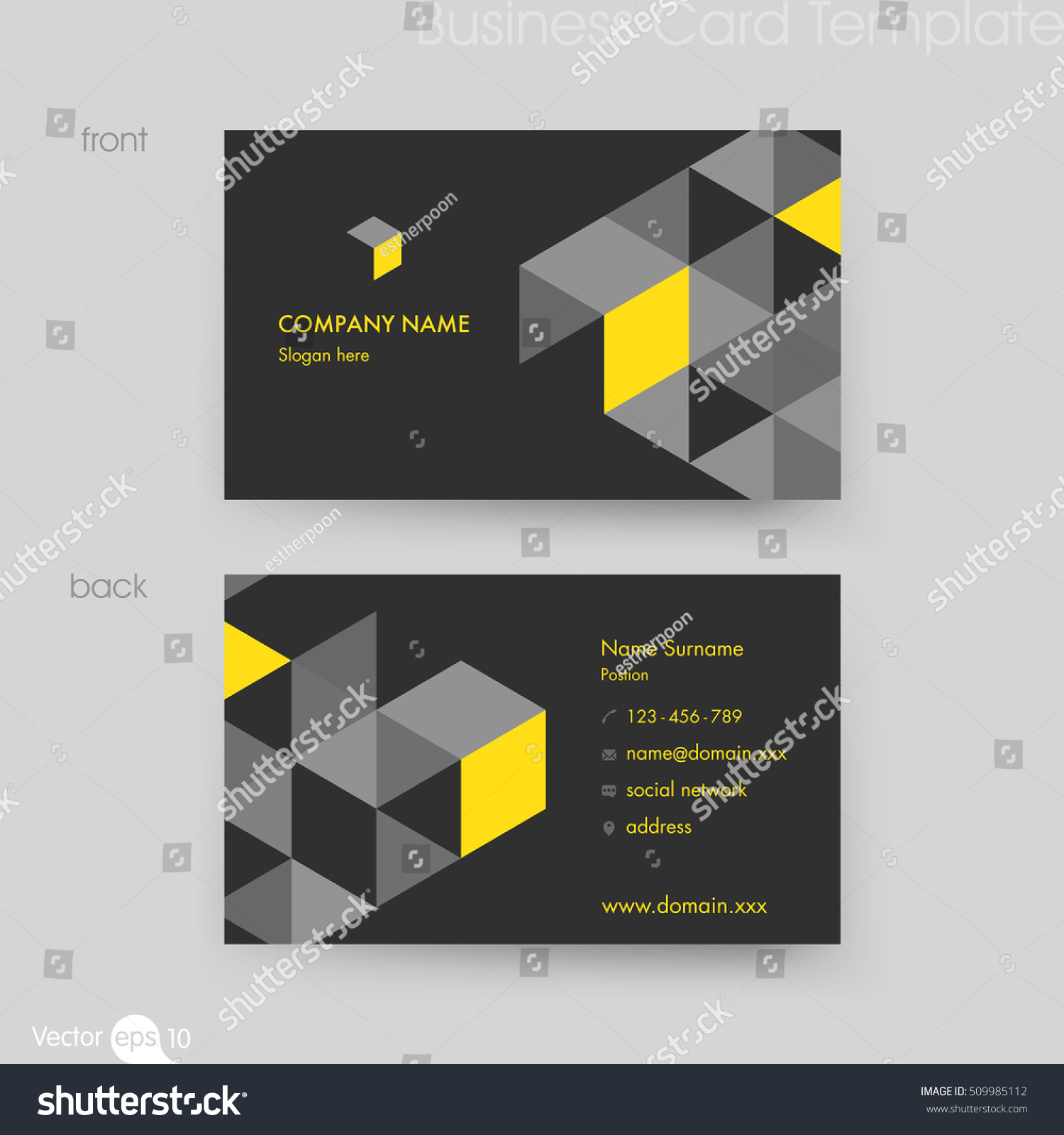 business card template stock vector shutterstock