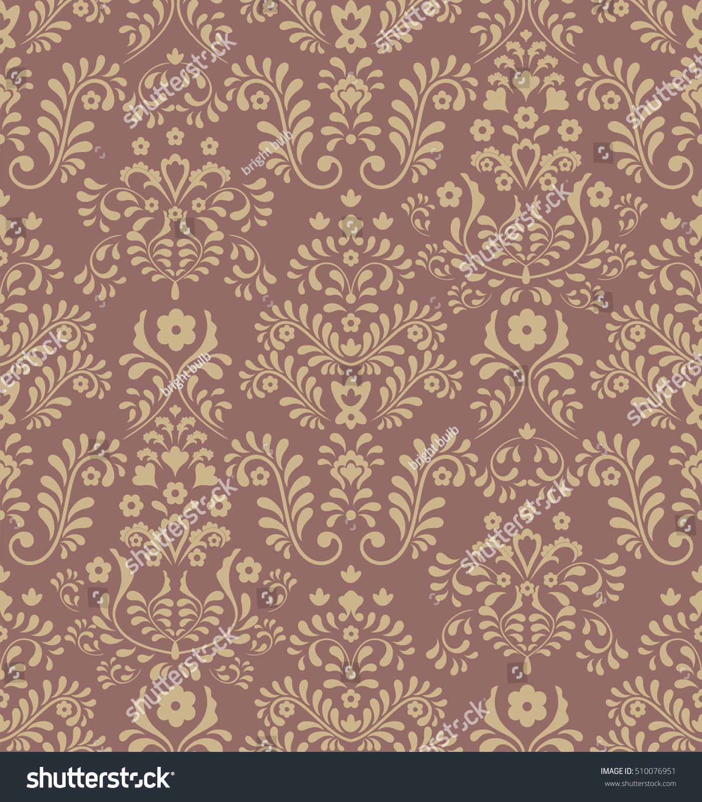 Seamless brown background yellow pattern baroque stock for Baroque fashion trend
