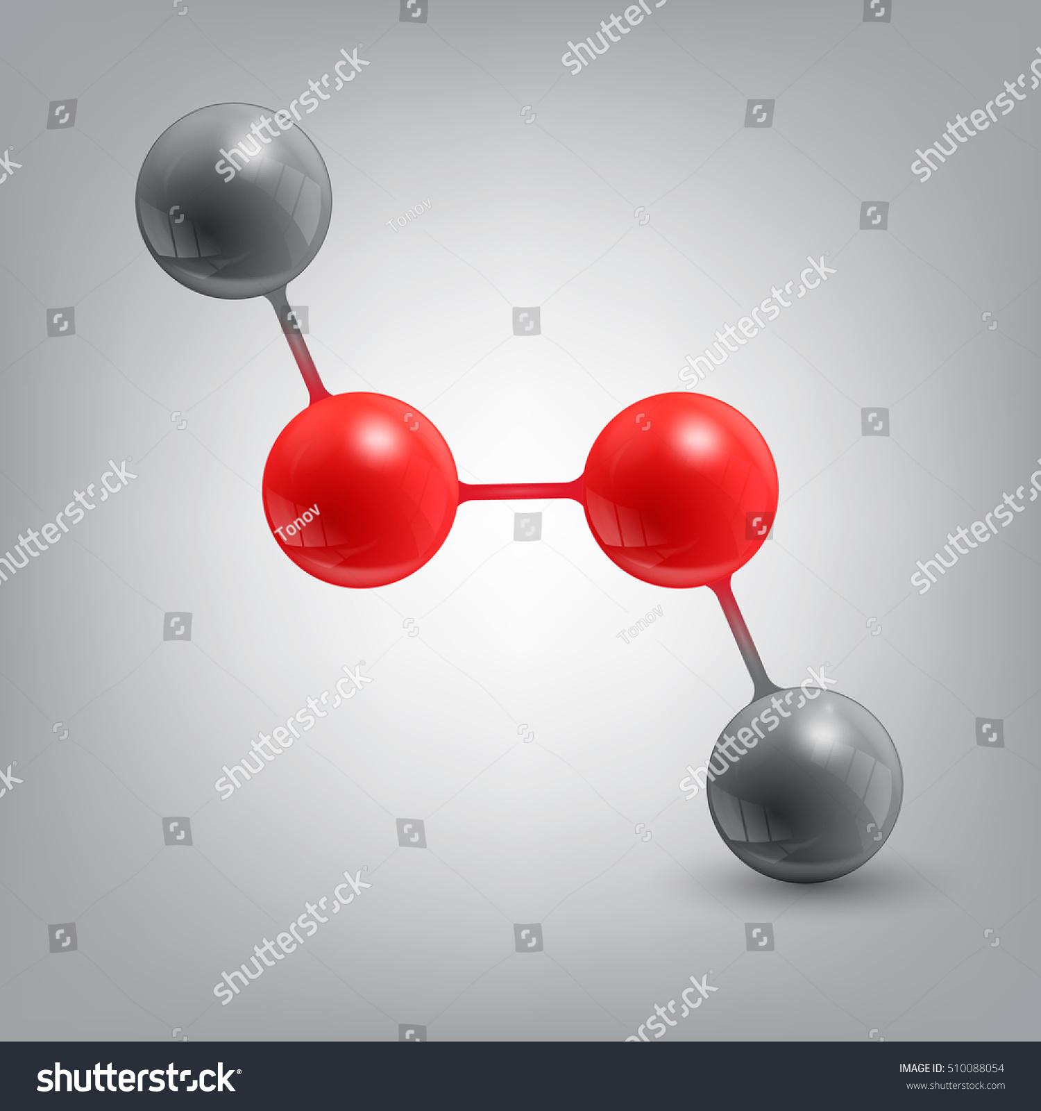 Hydrogen Peroxide Molecule Structure Stock Vector ...