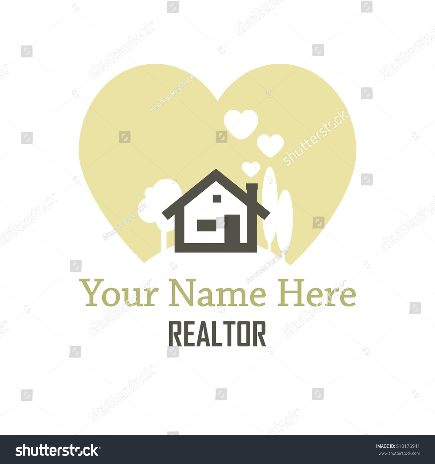 Heart Shaped Smoke Rises Chimney House Stock Vector HD (Royalty Free ...