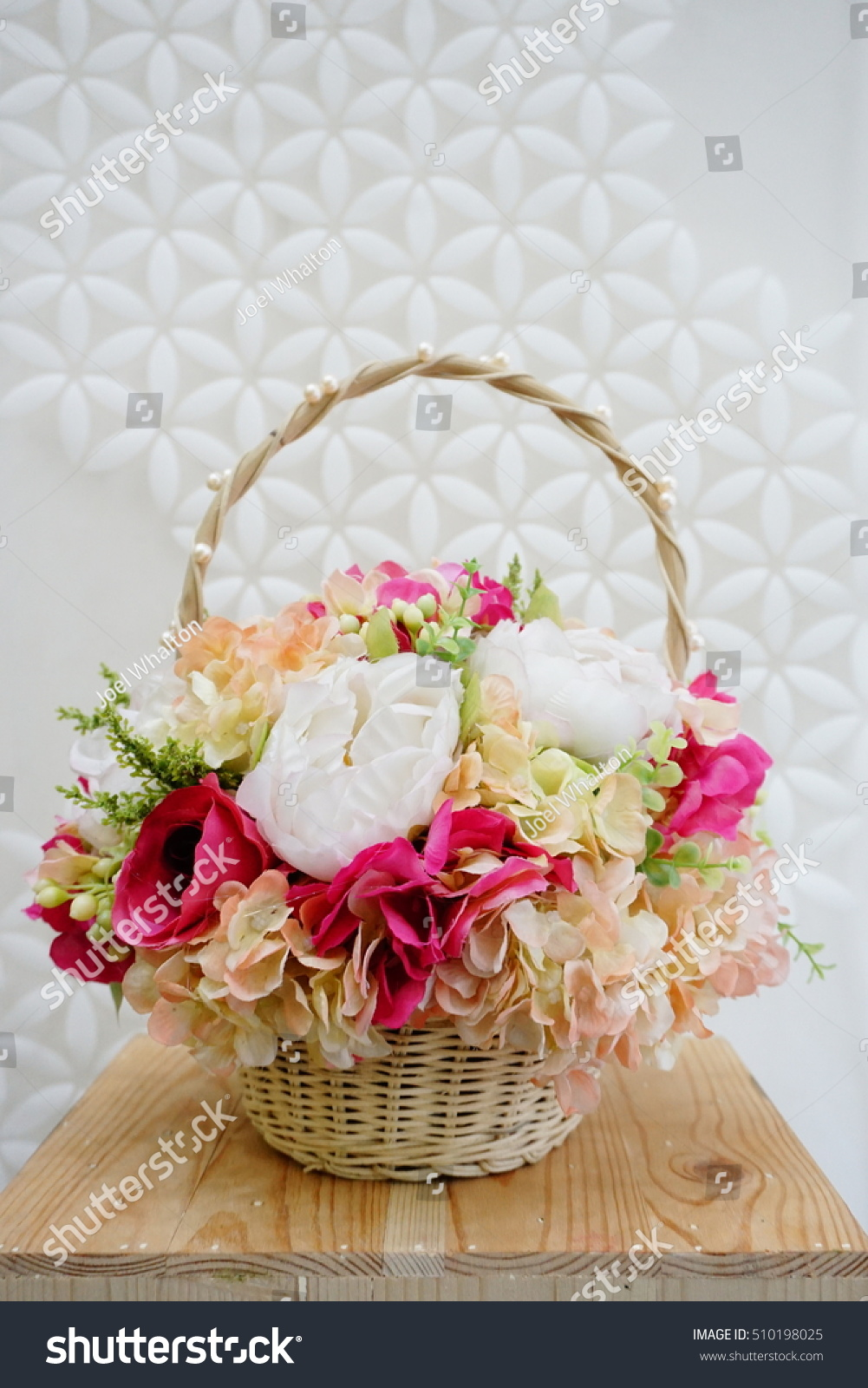 Flower Bouquet Made By Cloth Fibre Stock Photo Edit Now 510198025