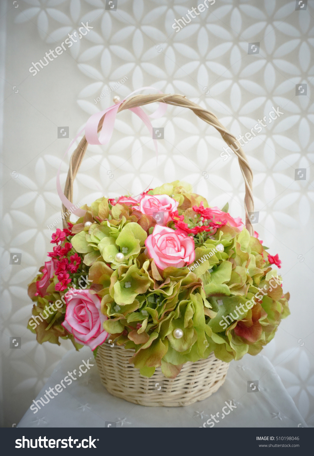 Flower Bouquet Made By Cloth Fibre Stock Photo Royalty Free