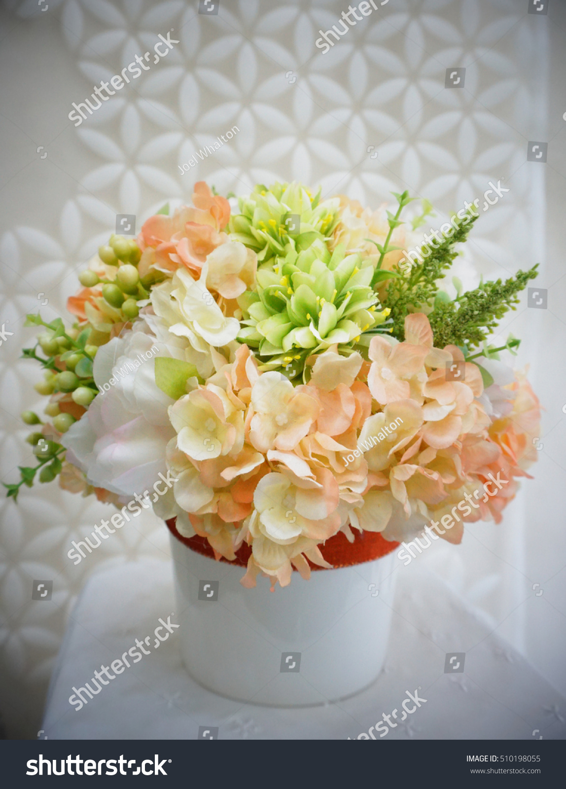 Flower Bouquet Made By Cloth Fibre Stock Photo Edit Now 510198055