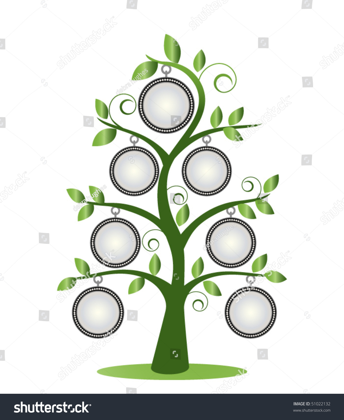 Family Tree Frames Empty Your Input Stock Vector (Royalty Free ...