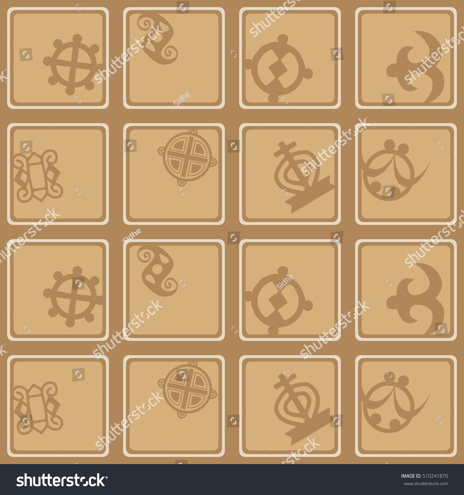 Seamless pattern adinkra symbols your design stock vector seamless pattern adinkra symbols your design stock vector 510241870 shutterstock biocorpaavc Images