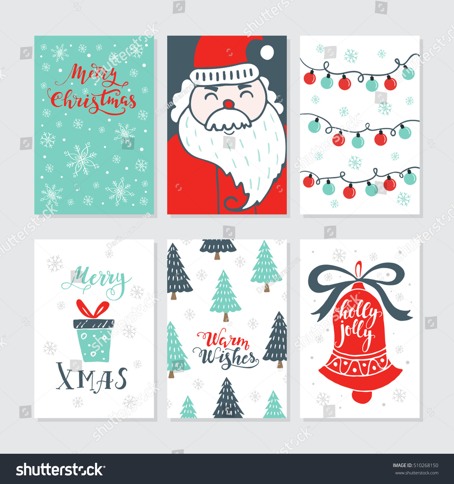 Vector merry christmas greeting cards invitations stock vector vector merry christmas greeting cards and invitations isolated on background set with cute xmas tree kristyandbryce Gallery