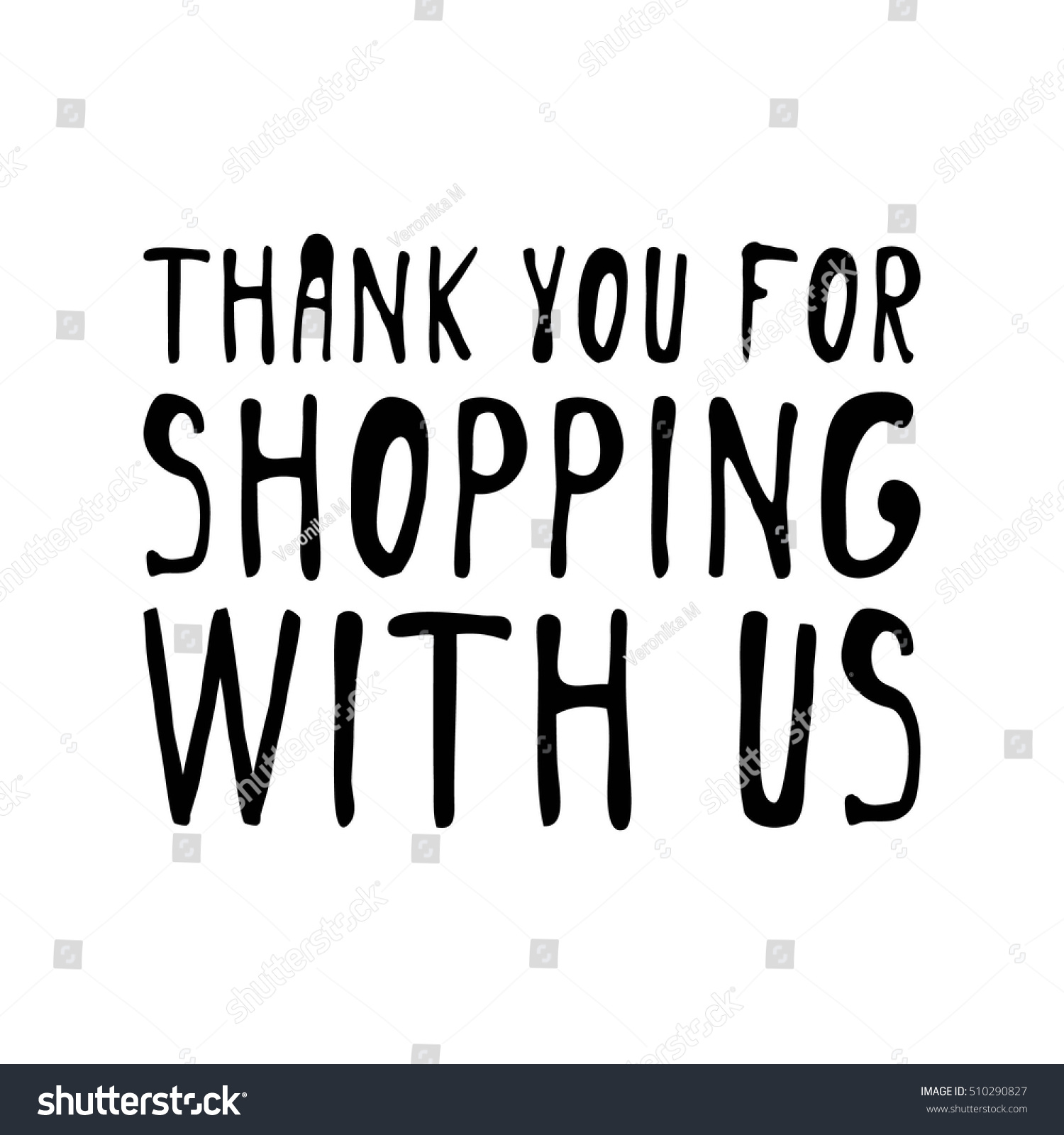 Thank you shopping us sale banner stock vector