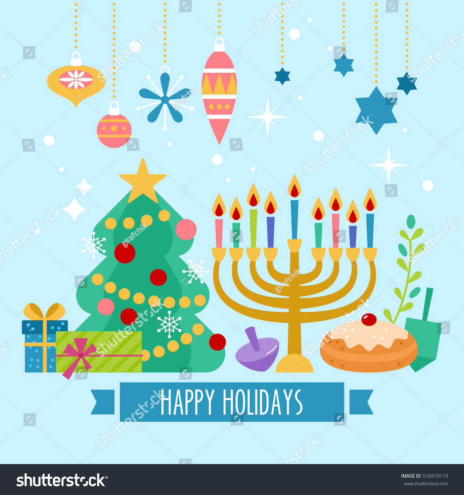 Similar Images Stock Photos Vectors Of Christmas Hanukkah Holiday