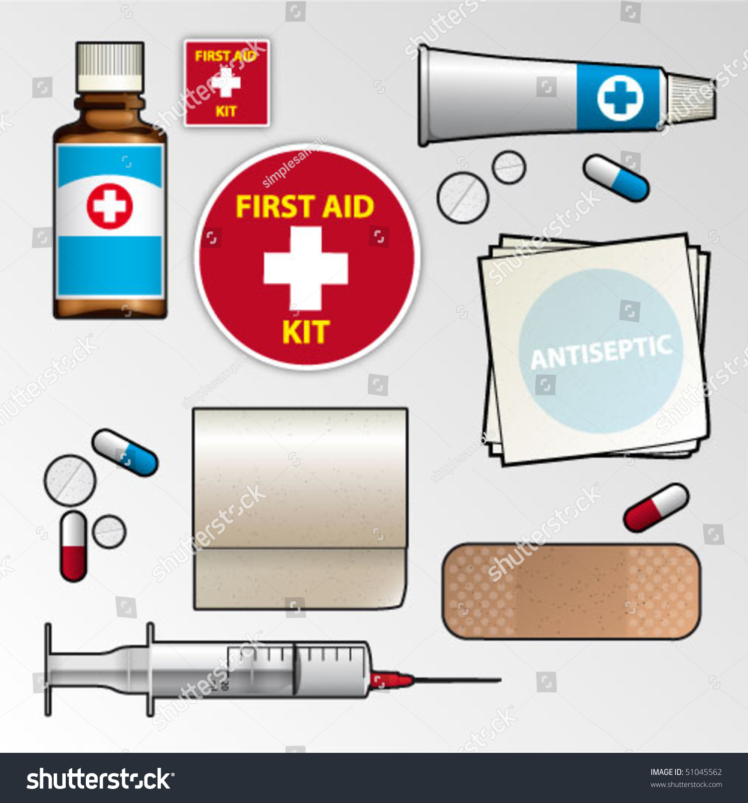 First Aid Kit Contents For Kids Image Mag : stock vector first aid kit 51045562 from imagemag.ru size 1491 x 1600 jpeg 414kB