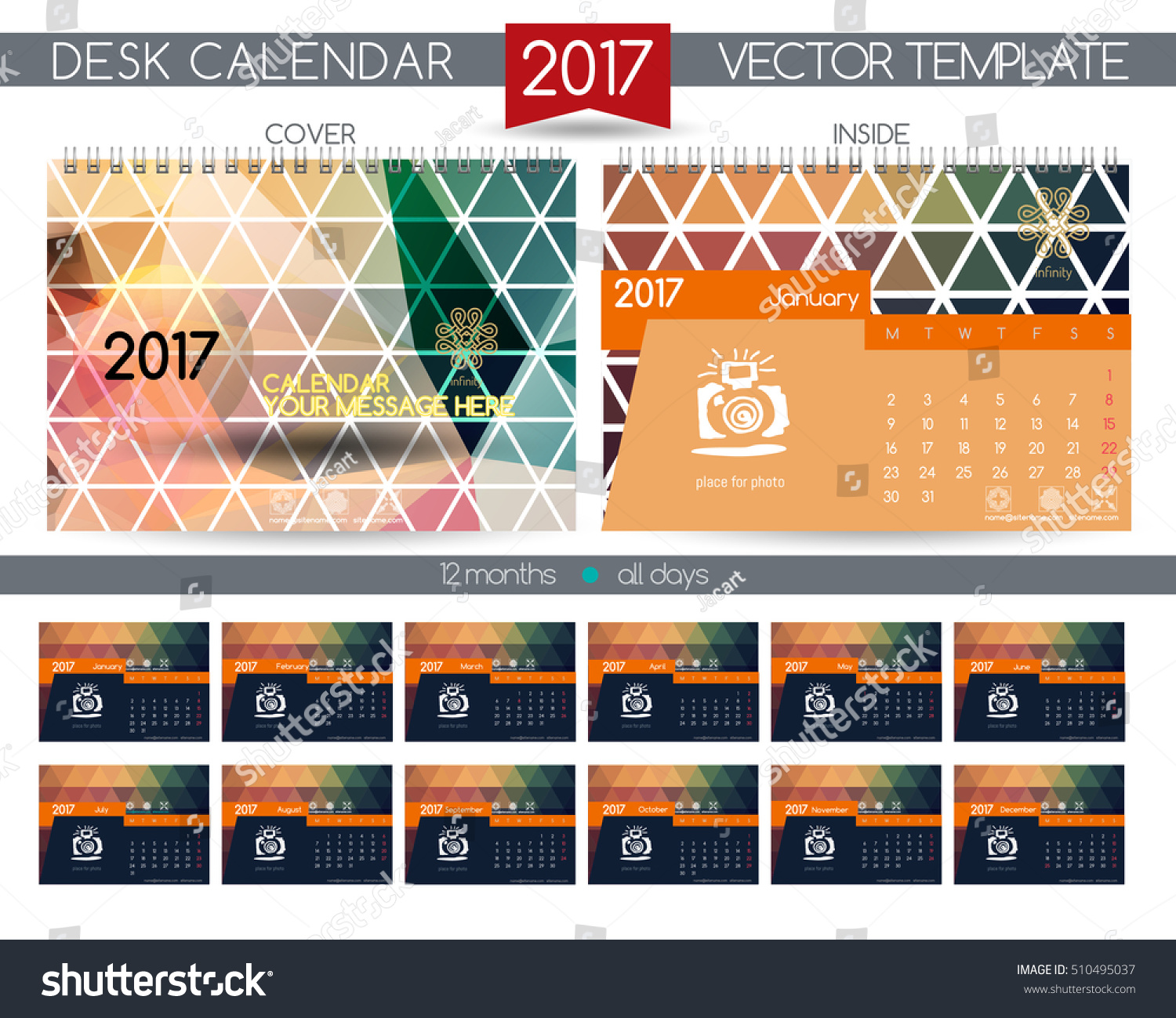 Calendar All Months : Calendar vector templates all months stock