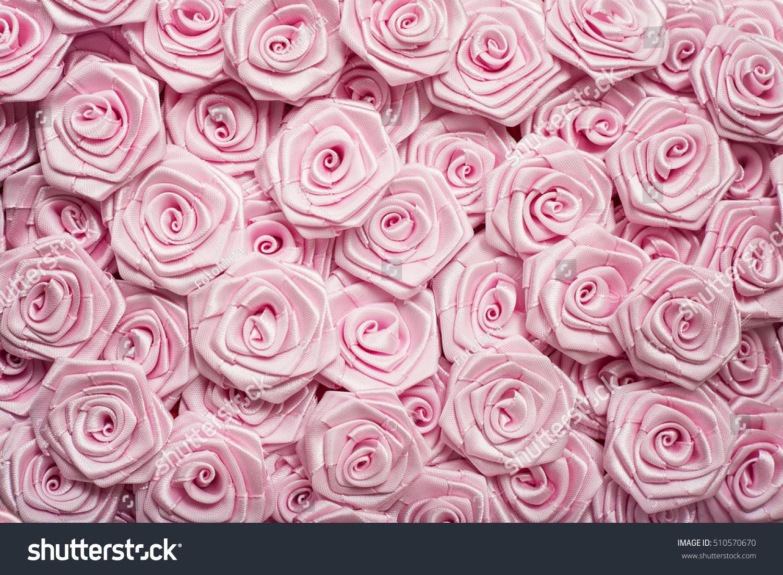 Wedding Decoration Light Pink Flowers Satin Stock Photo Edit Now
